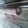 Zlomená hřídel drtiče na pneumatiky od jiného dodavatele